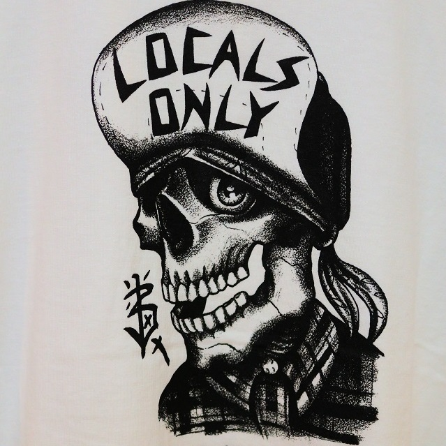 LOCALS ONLY×BLUE VALENTINE SKULL LONG TEE