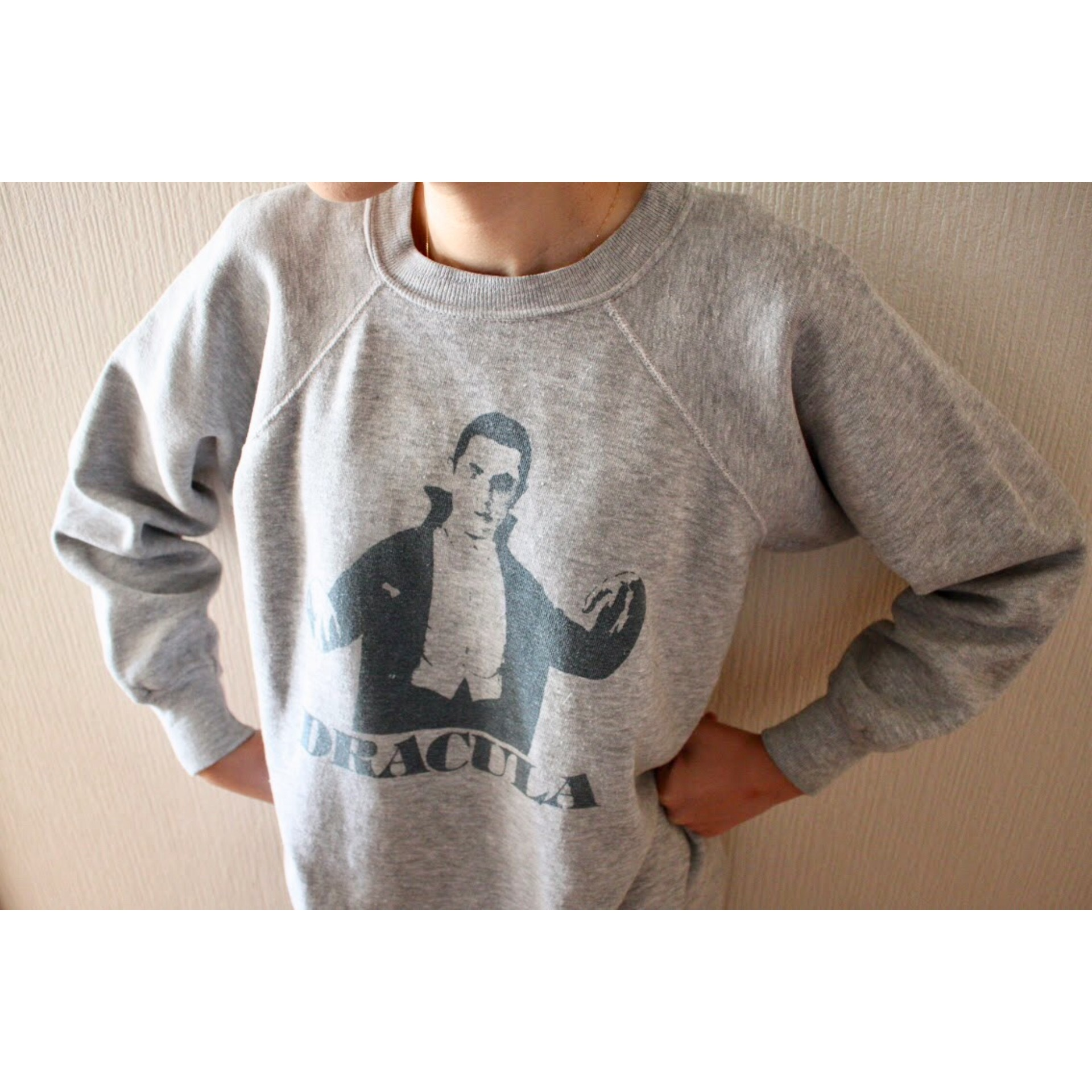 """Vintage """"DRACULA"""" sweater by Champion"""