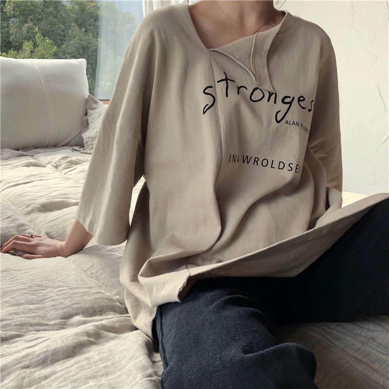 【送料無料】 旬のゆるコーデ♡ オーバーサイズ Tシャツ ビッグシャツ バックプリント 英字ロゴ