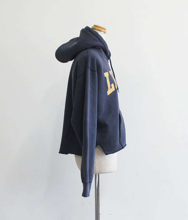 kha:ki カーキ リメイクパーカ LIERRE   レディース パーカ 長袖 ロゴ スエット スウェット 起毛 通販 (品番mil-18fcs145a)