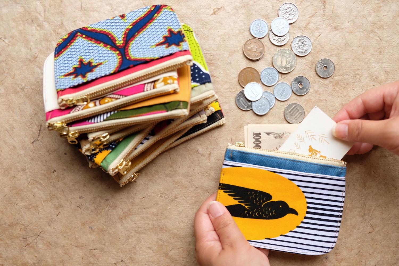 アフリカ布のカラフルミニ財布 / Jam tun