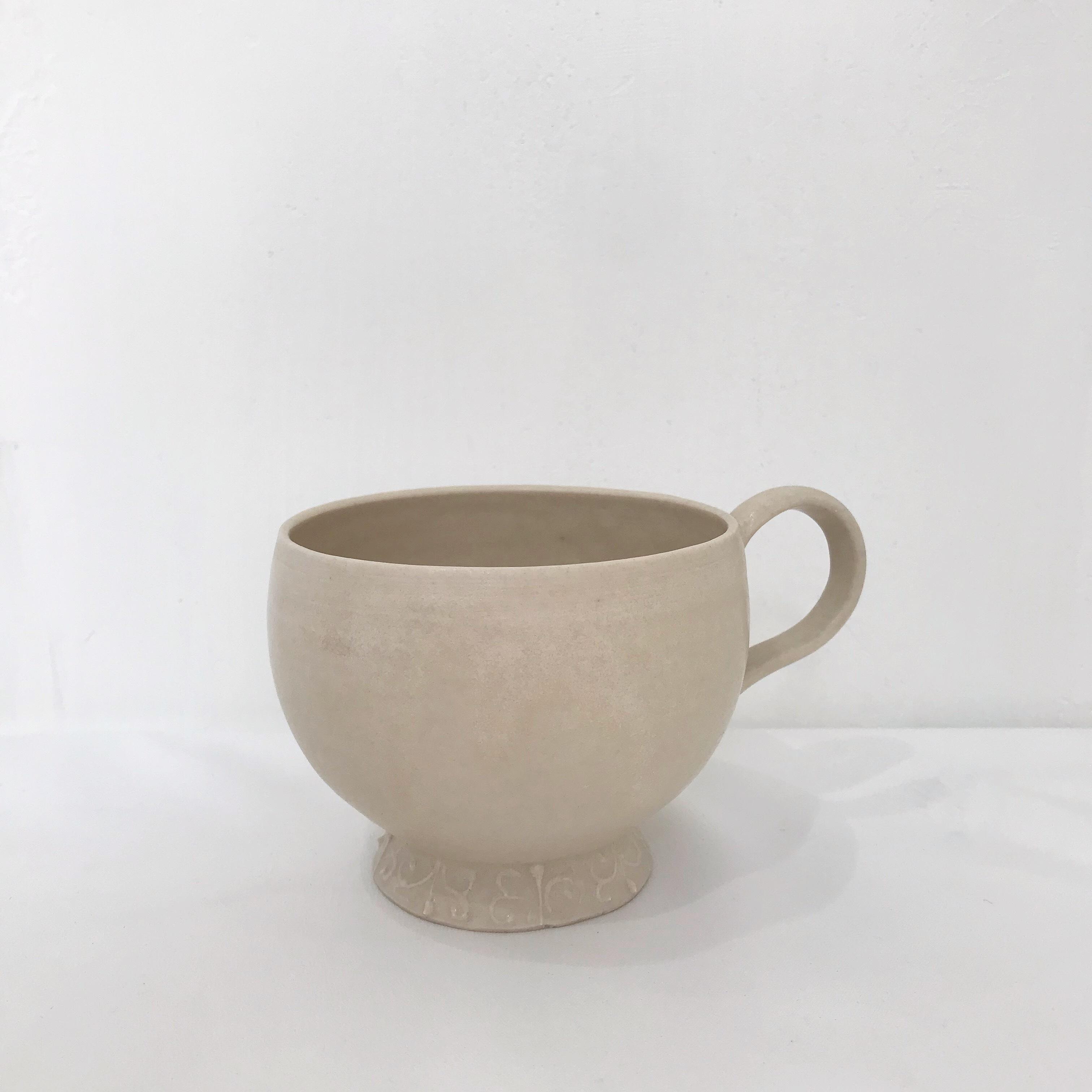 灰琥珀釉コーヒーカップ 前田麻美