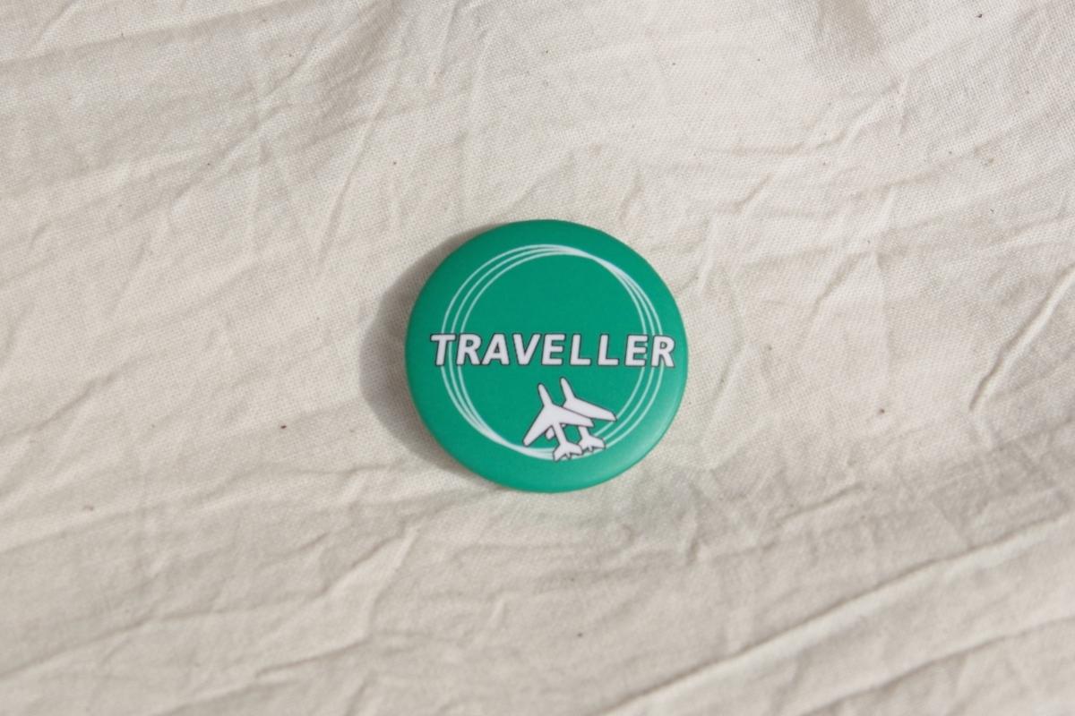 [OA-22]ミニバッジ(TRAVELER)