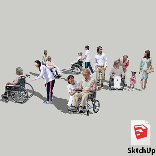 人物SketchUp 4p_set042 - 画像1