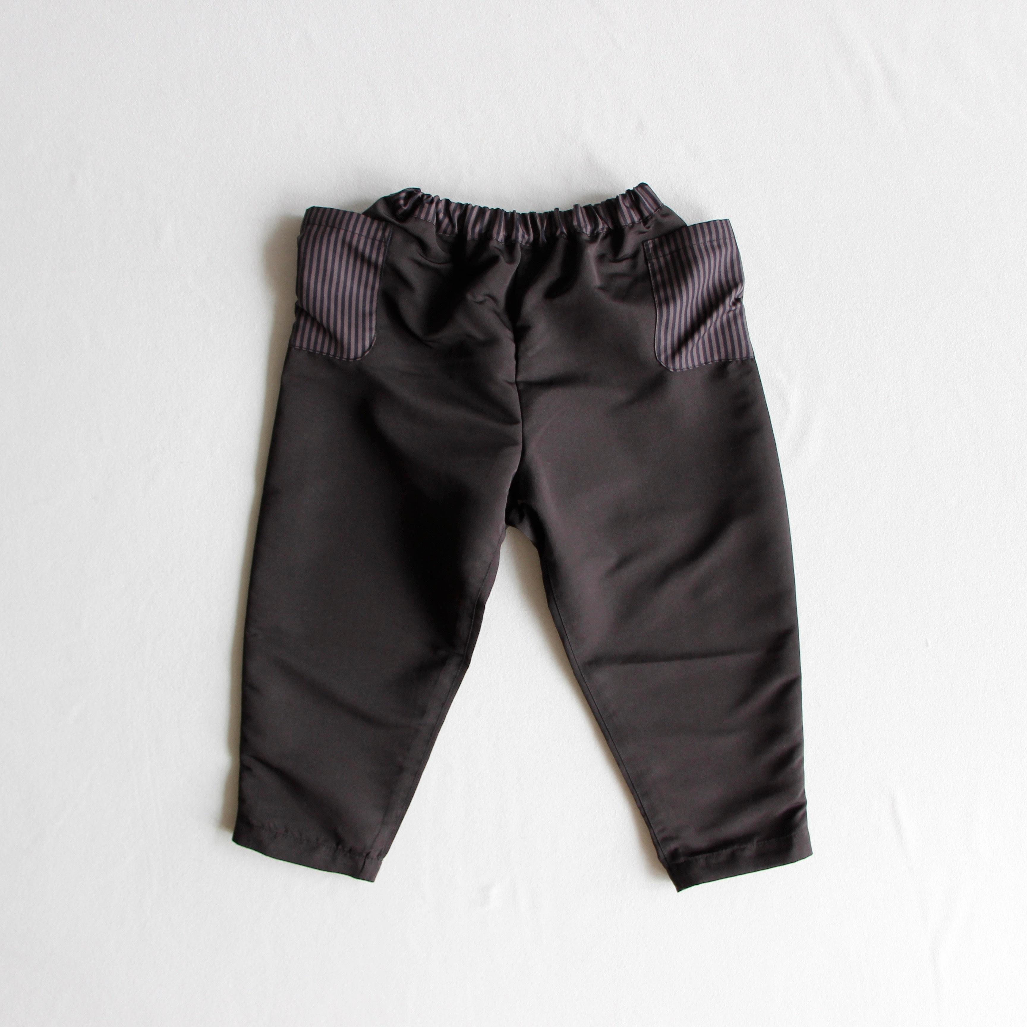 《michirico 2018AW》Grosgrain pants / black
