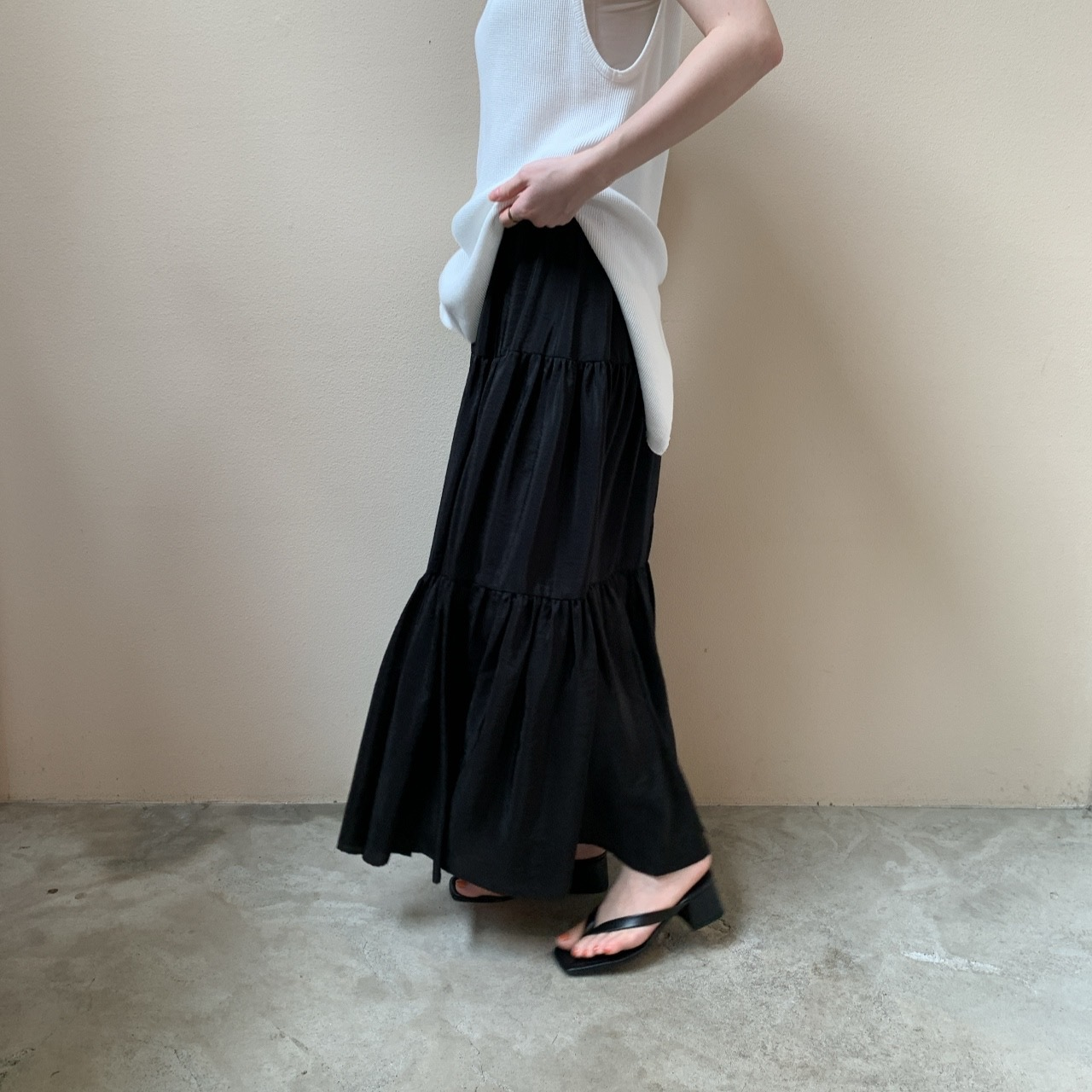 PHEENY - Organdie tiered skirt