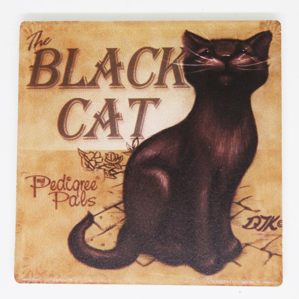 猫コースター(レトロキャット)リラックス黒