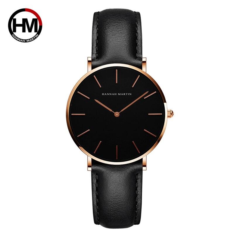 シンプルジャパンクォーツムーブメントウォッチレザーストラップナイロン時計女性アナログ防水腕時計CH36-FH