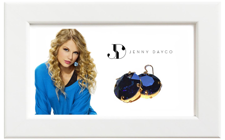 JENNY DAYCO/ジェニー・デイコ スワロフスキーイヤリング/ブルー