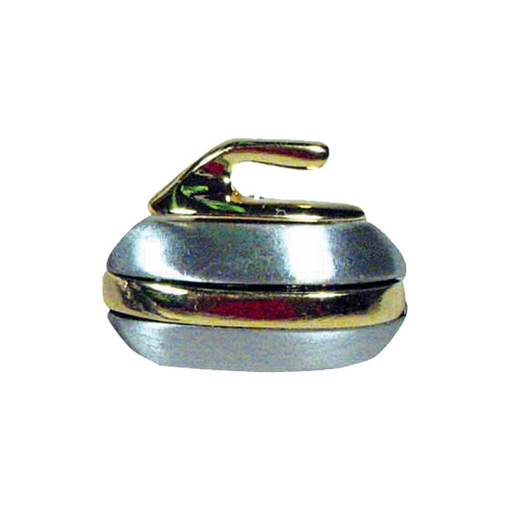 Curling Rock ブローチ ゴールド×ピューター