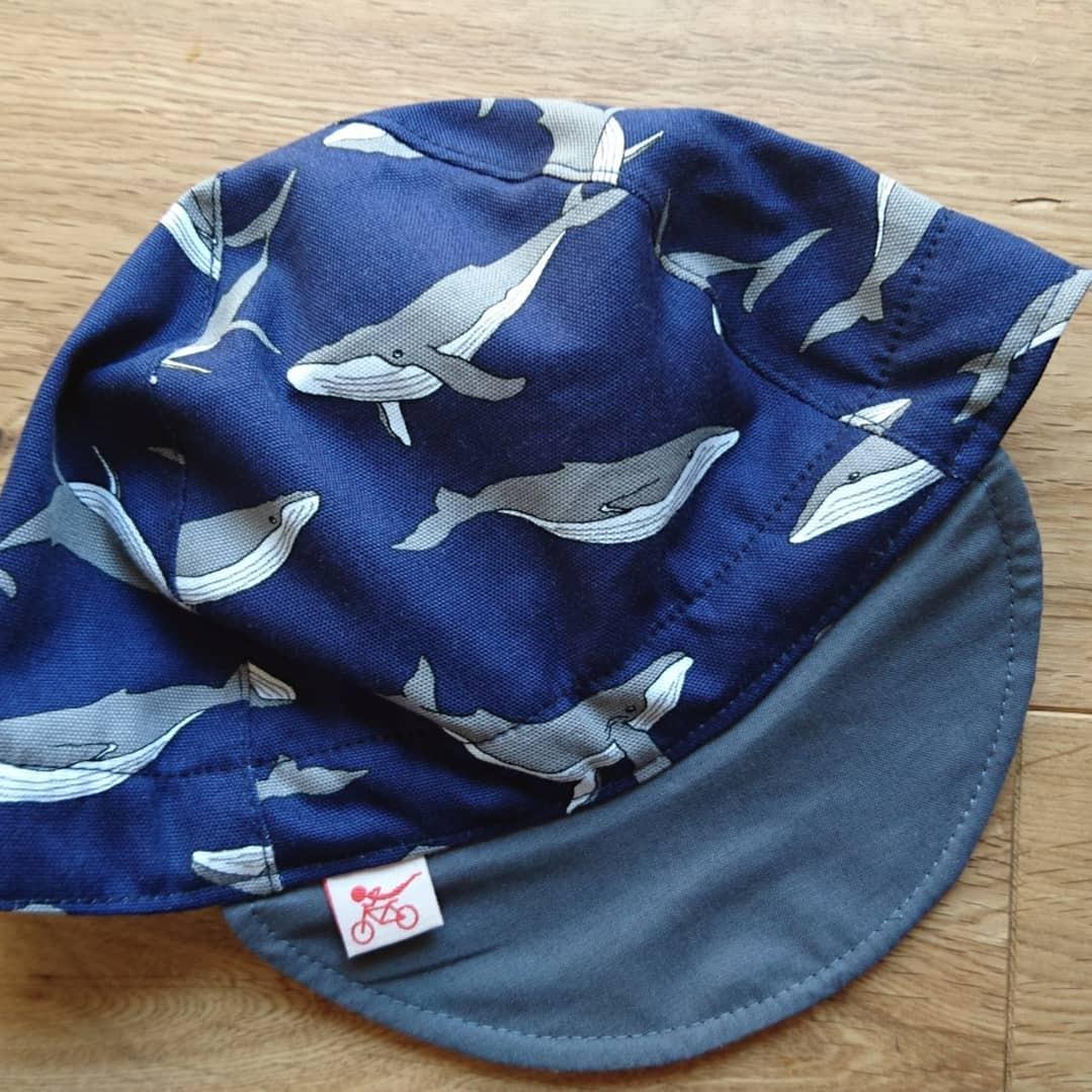 サイクルキャップ クジラ 濃紺