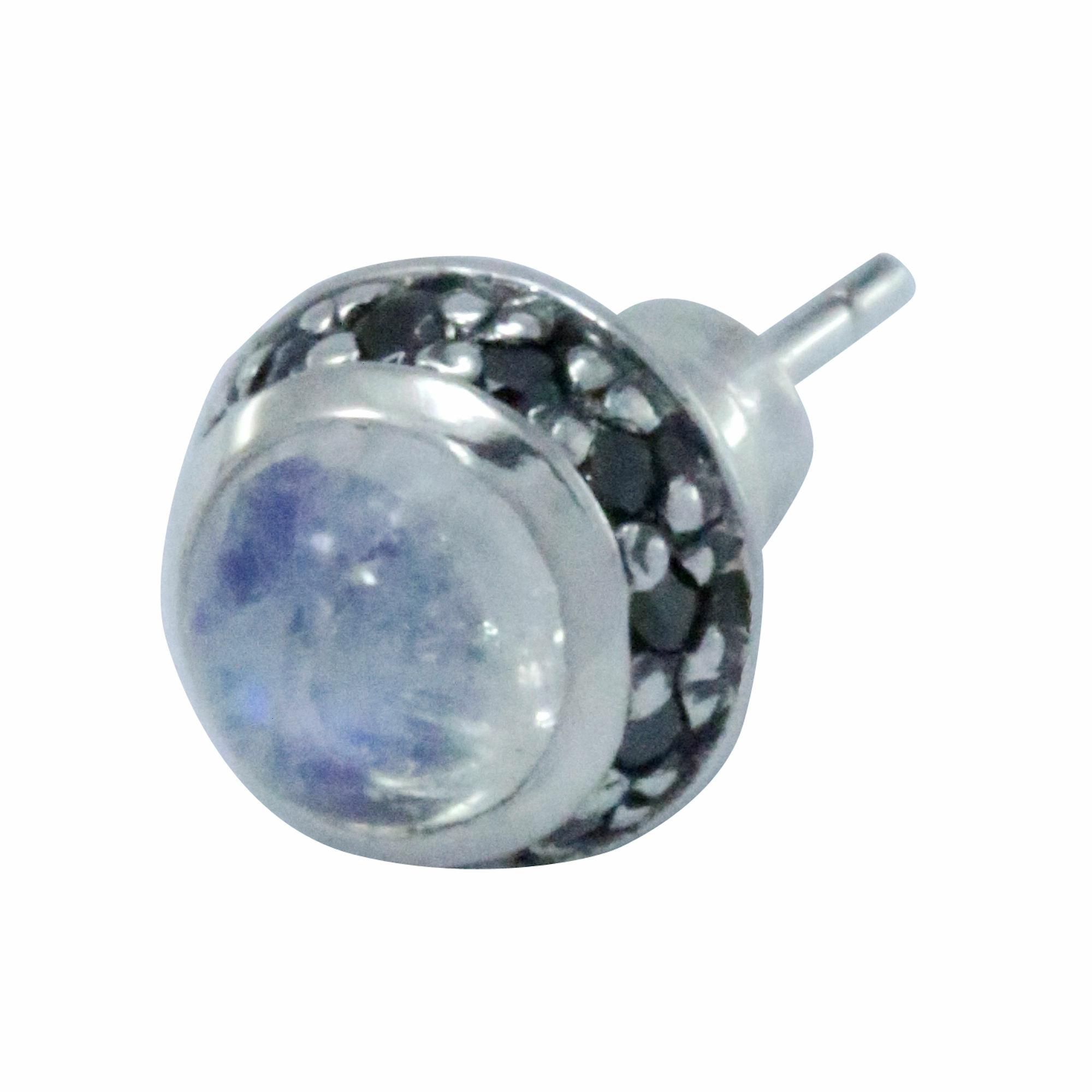 ラウンドムーンストーンピアス ACE0100 Round moonstone earrings