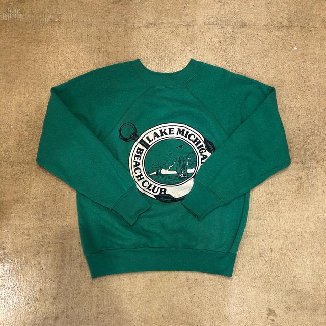 70's Lake Michigan Beach Club Raglan Sweat ¥5,200+tax