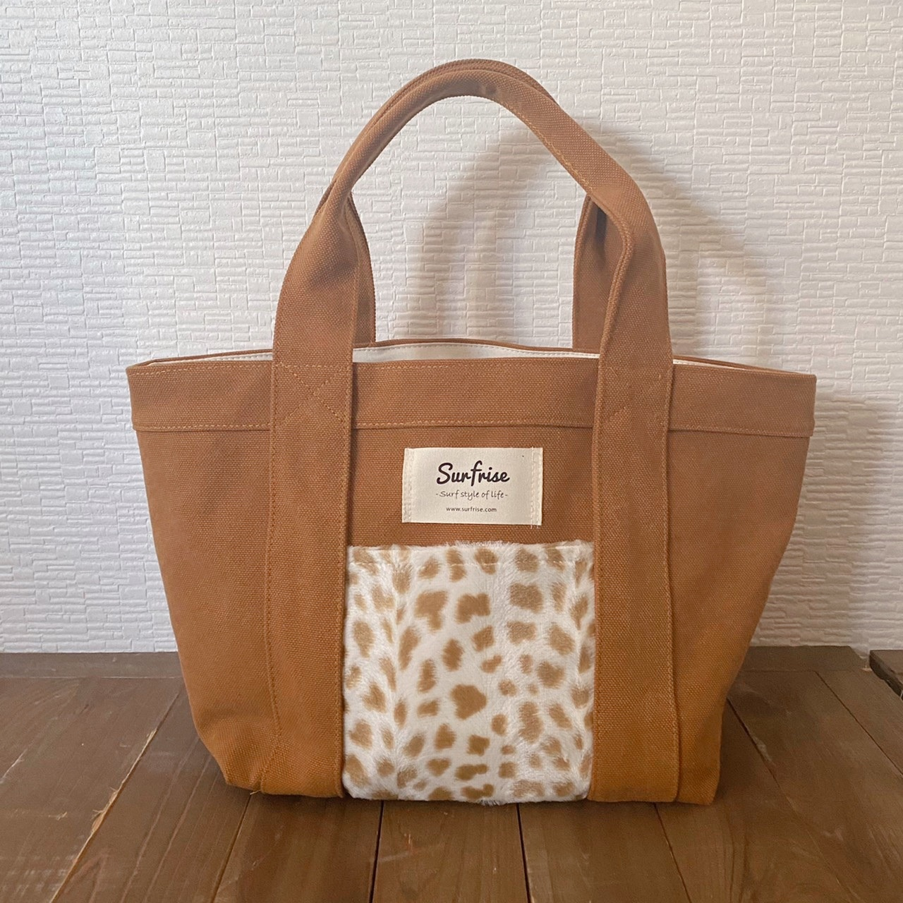 Tote bag S - Camel / Cheetah