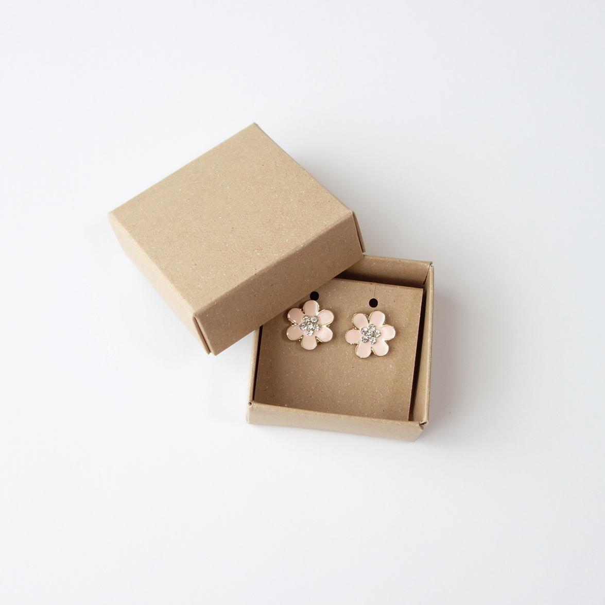 フタと身箱 10個セット アクセサリー用台紙付き クラフト
