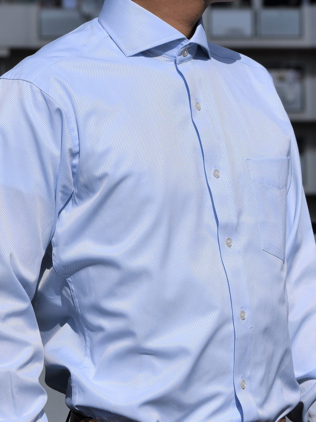 ドビーシャツ(ライトブルー)