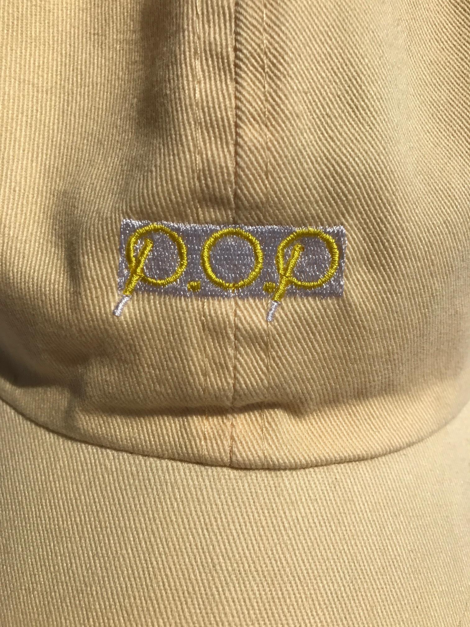P.O.P CAP ライトイエロー - 画像1