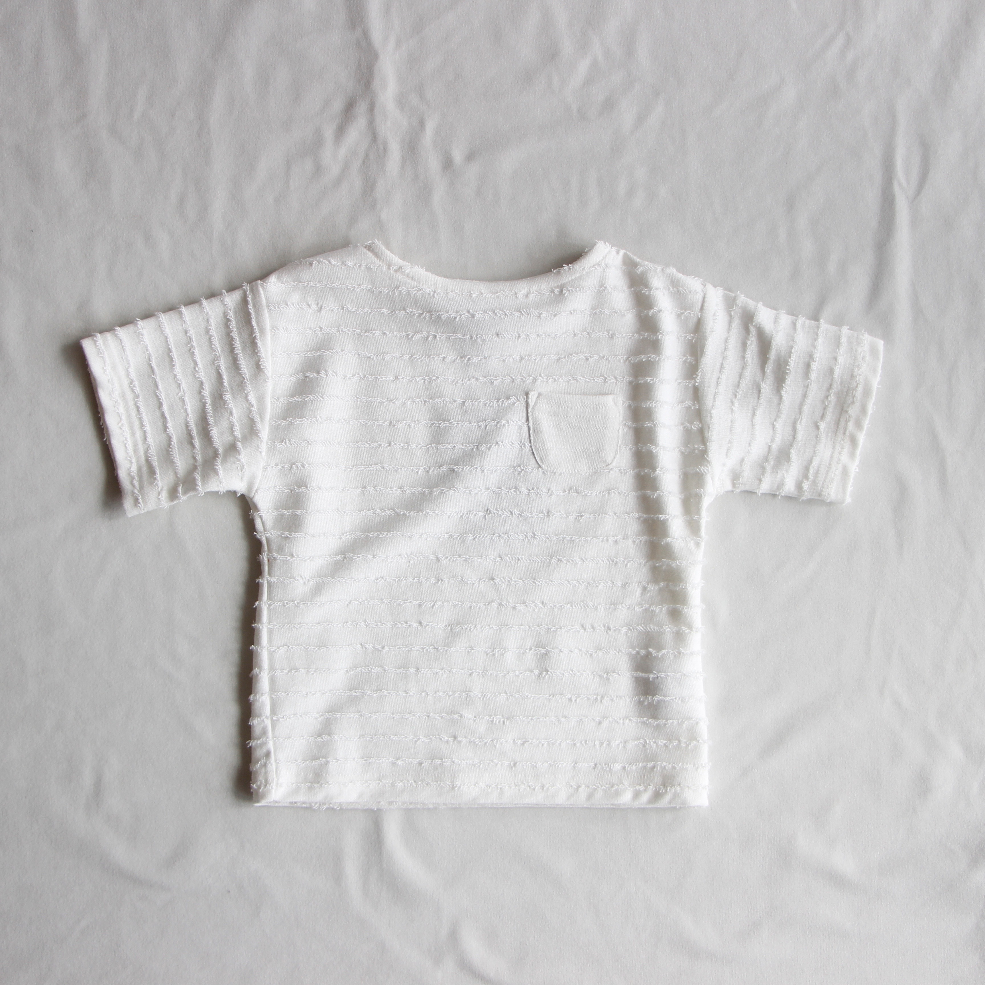 《mimi poupons 2017SS》ミニフリンジT-shirt / white