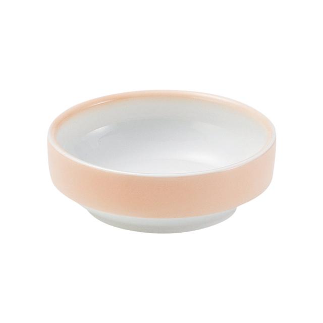 【1713-2740】強化磁器 12.5cm すくいやすい食器 ぼかしオレンジ