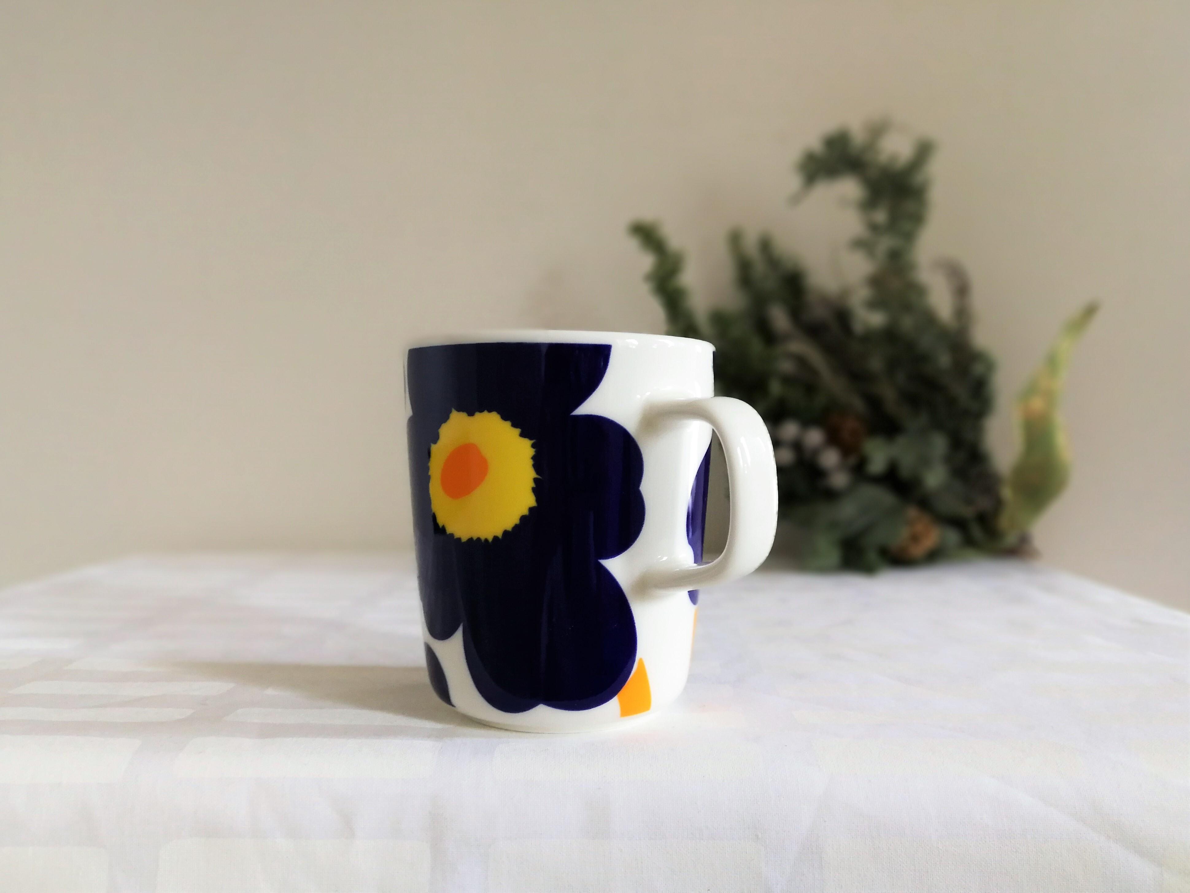 [お得なセット] marimekko マグカップ x iittala  ティーマ  (ウニッコブラック250ml x ティーマ白15cm プレート)