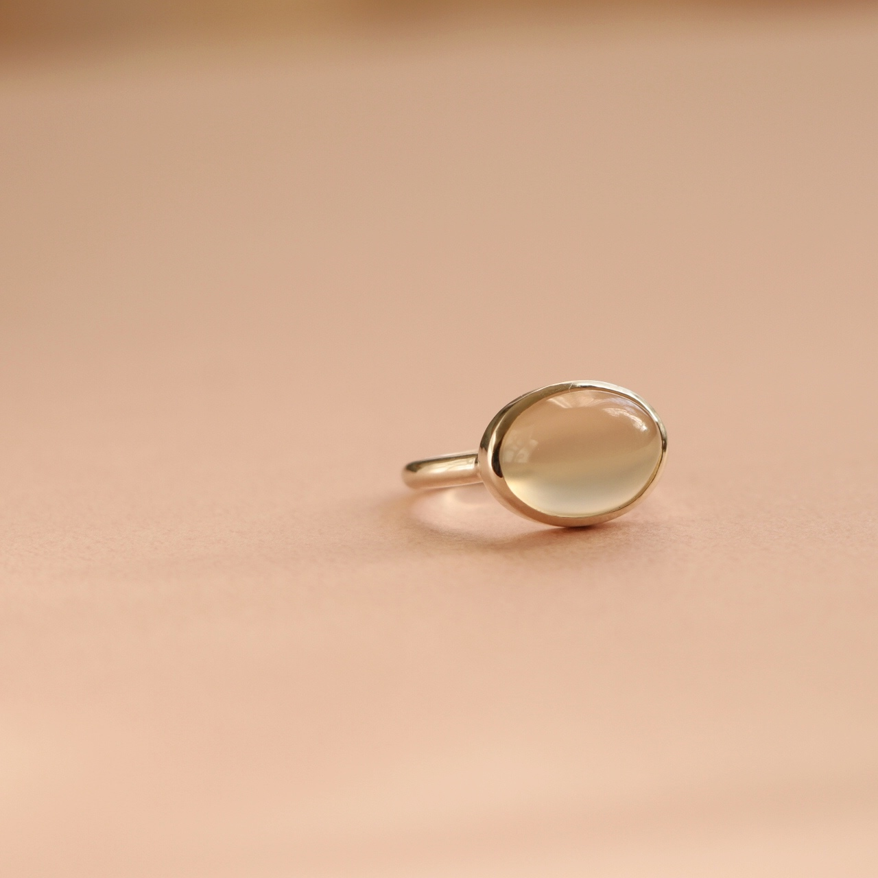 White Moonstone Ring ✧silver925 ✧