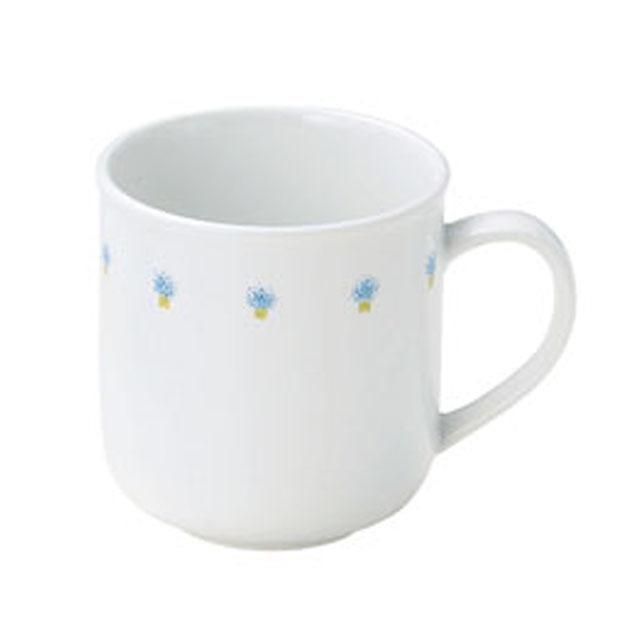 【1925-1050】花の冠ブルー 強化磁器 マグカップ