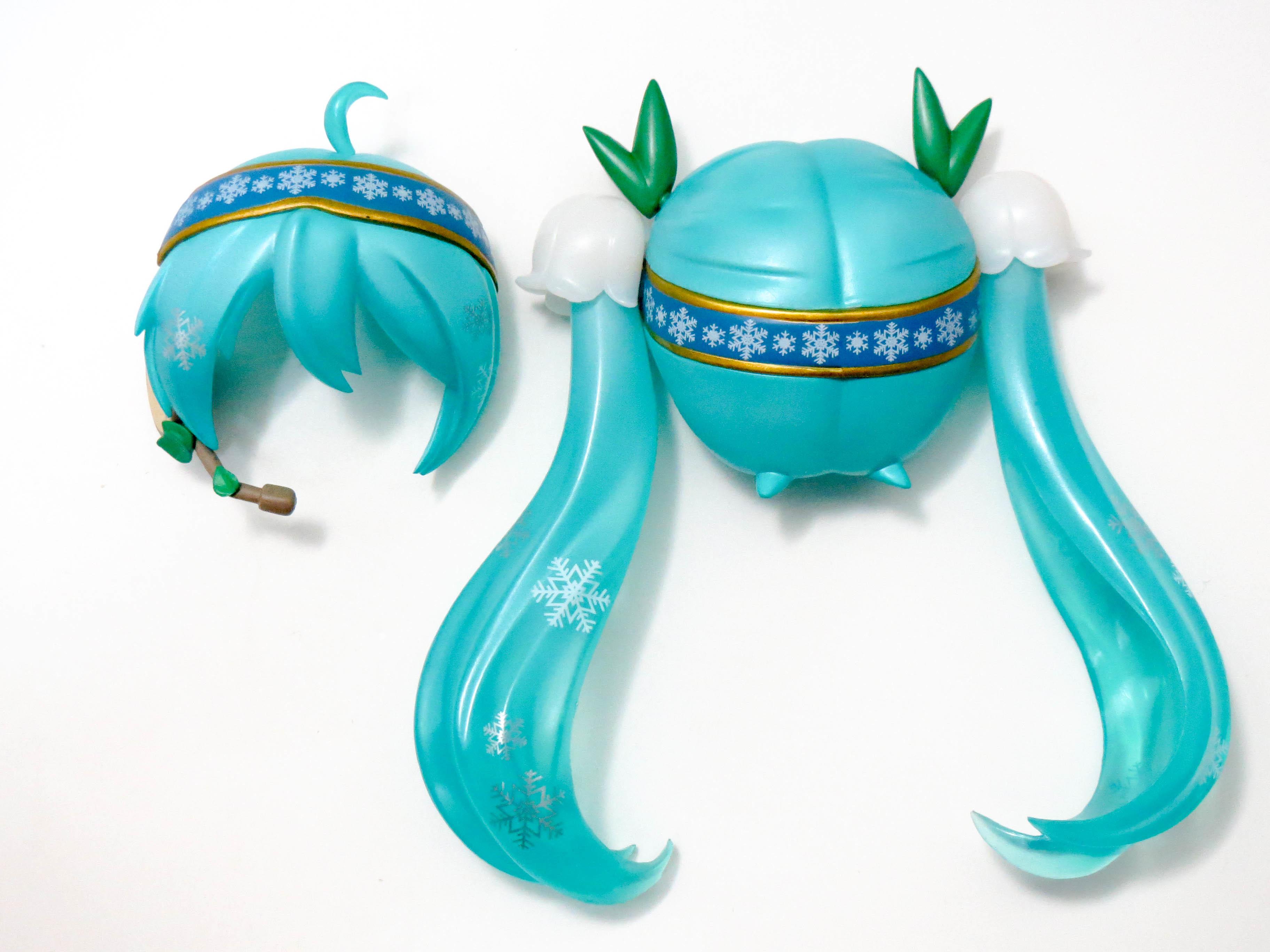 【493】 雪ミク Snow Bell Ver. 髪パーツ ツインテール ねんどろいど
