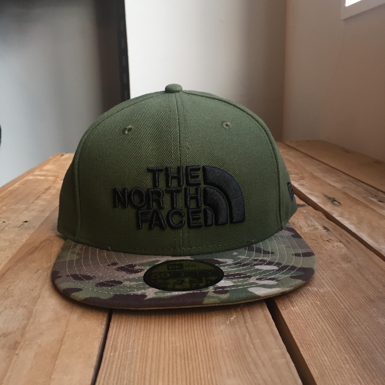USストア限定 The North Face x New Era Half Dome Logo Cap Olive/Camo