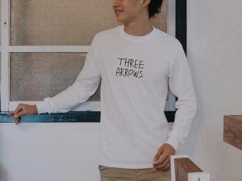 【11/2 21:00 再入荷】THREEARROWS LOGO L/S TEE(white)