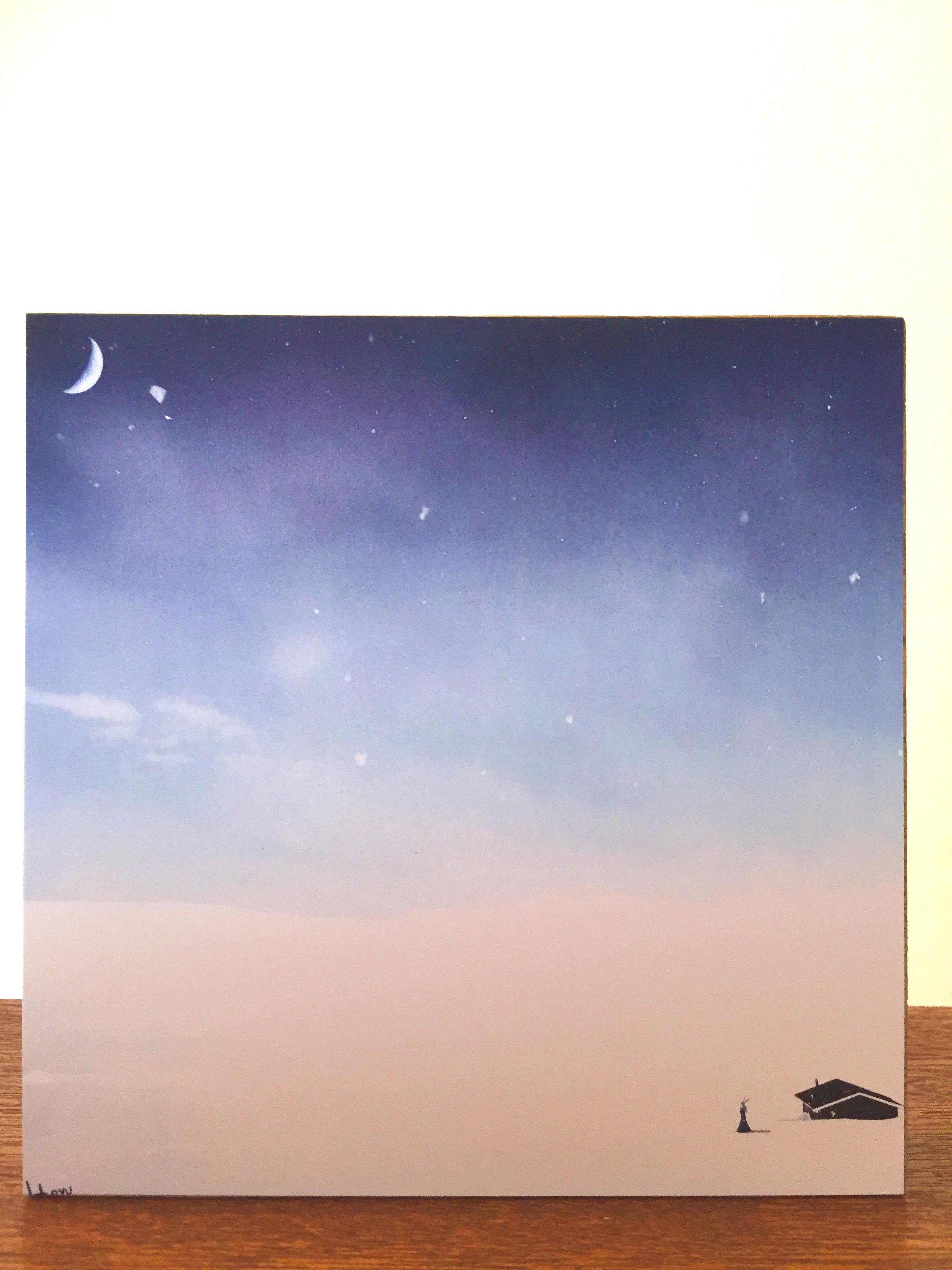 絵画 インテリア アートパネル 雑貨 壁掛け 置物 おしゃれ イラスト 雪 ロココロ 画家 : 志摩飛龍 作品 : snowy air