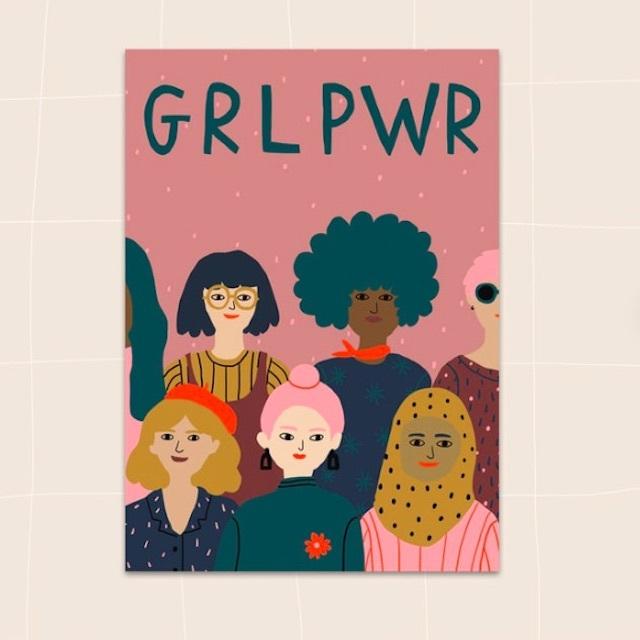 """Jennifer Bouron """"GRL PWR"""" Postcard"""