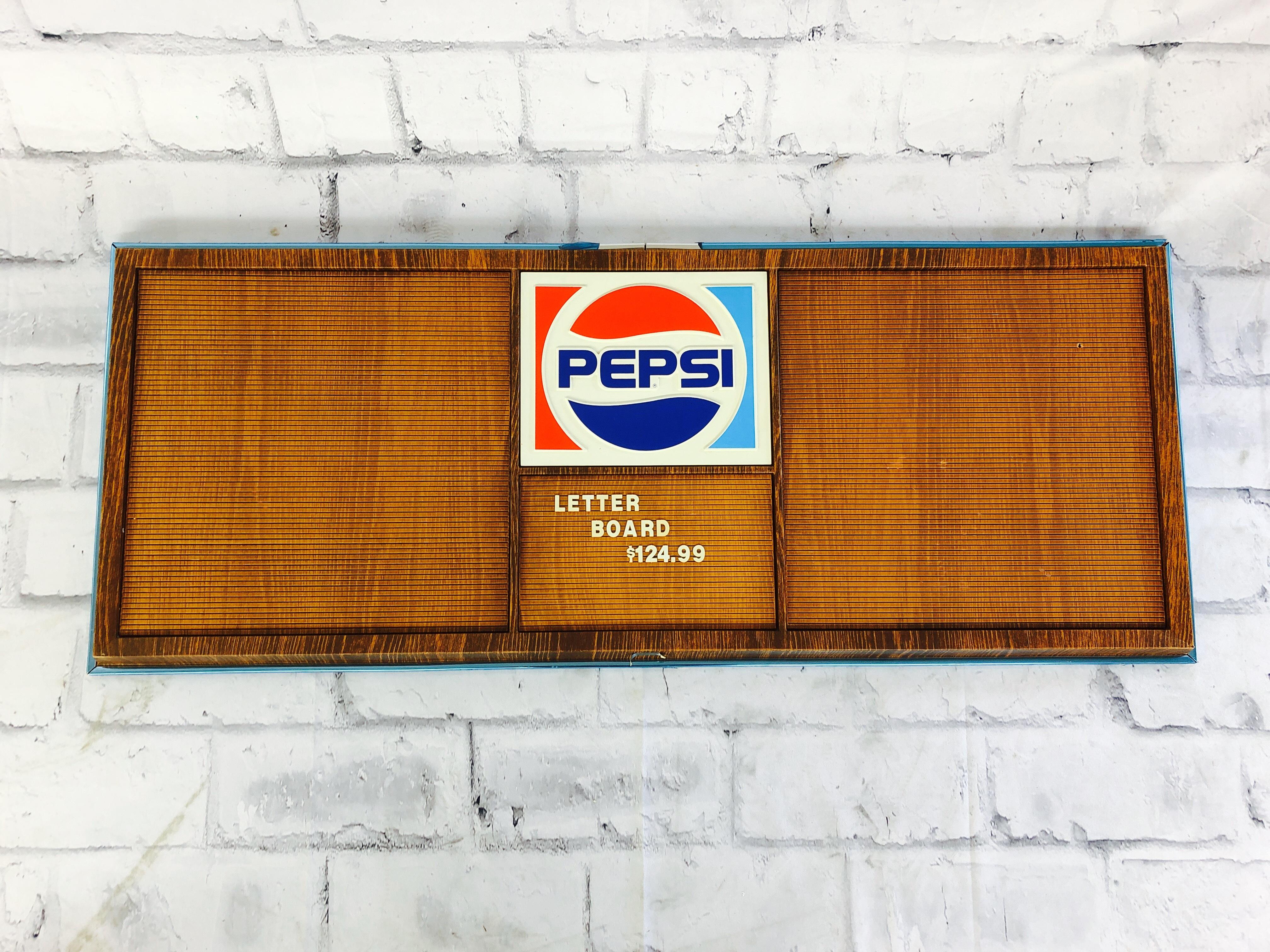 品番6053 PEPSI ペプシコーラ レターボード 文字パーツ付 LETTER BOARD サインボード 看板 ヴィンテージ