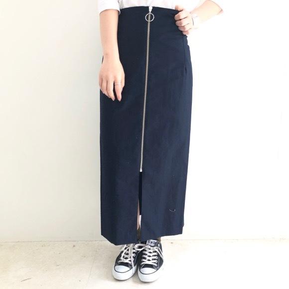 【anana】コットンスラブファスナースカート