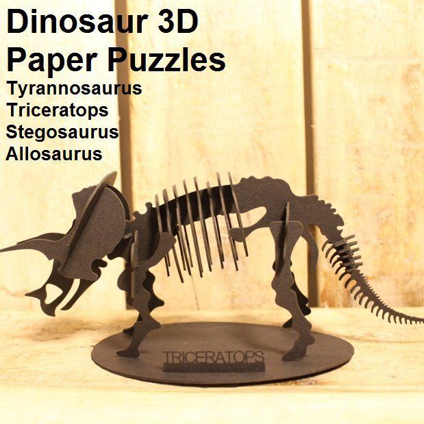 Dinosaur 3D Paper Puzzles