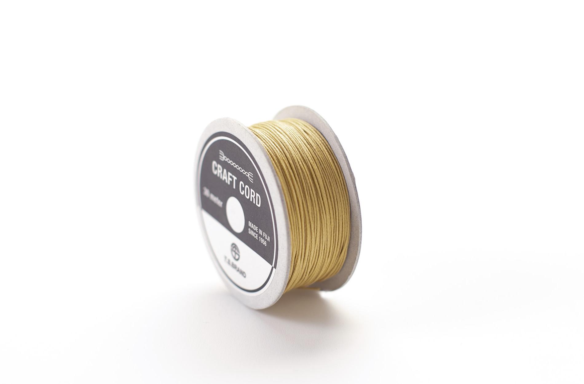 WAX CORD/ SAFFRON YELLOW/ 0.5㎜ /30meter