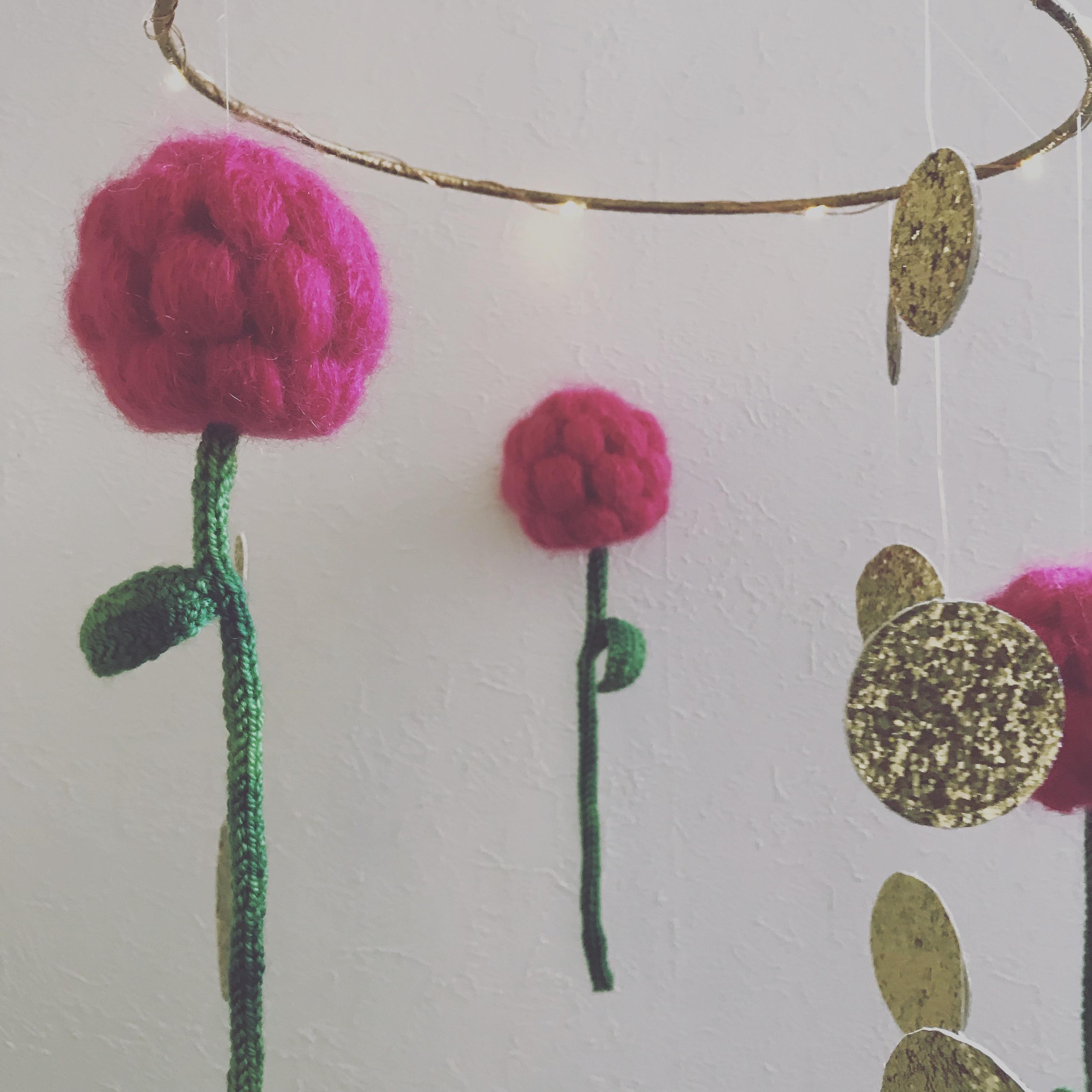 【ベリー】Flower yarn モビール