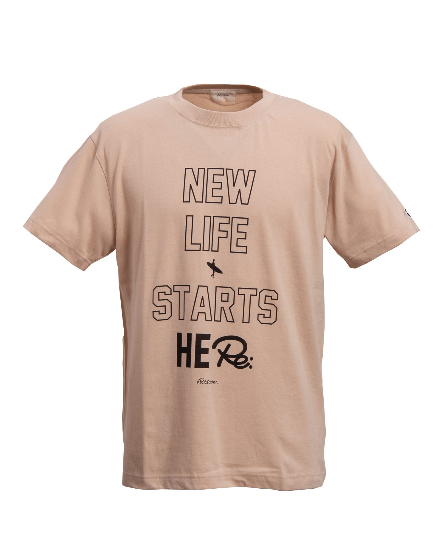 NEW LIFE MESSAGE BIG PRINT T-shirt[REC215]