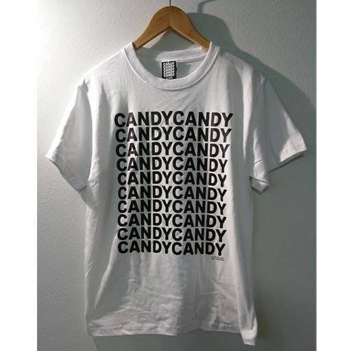 FIVE CANDY Tシャツ ホワイト×ブラック