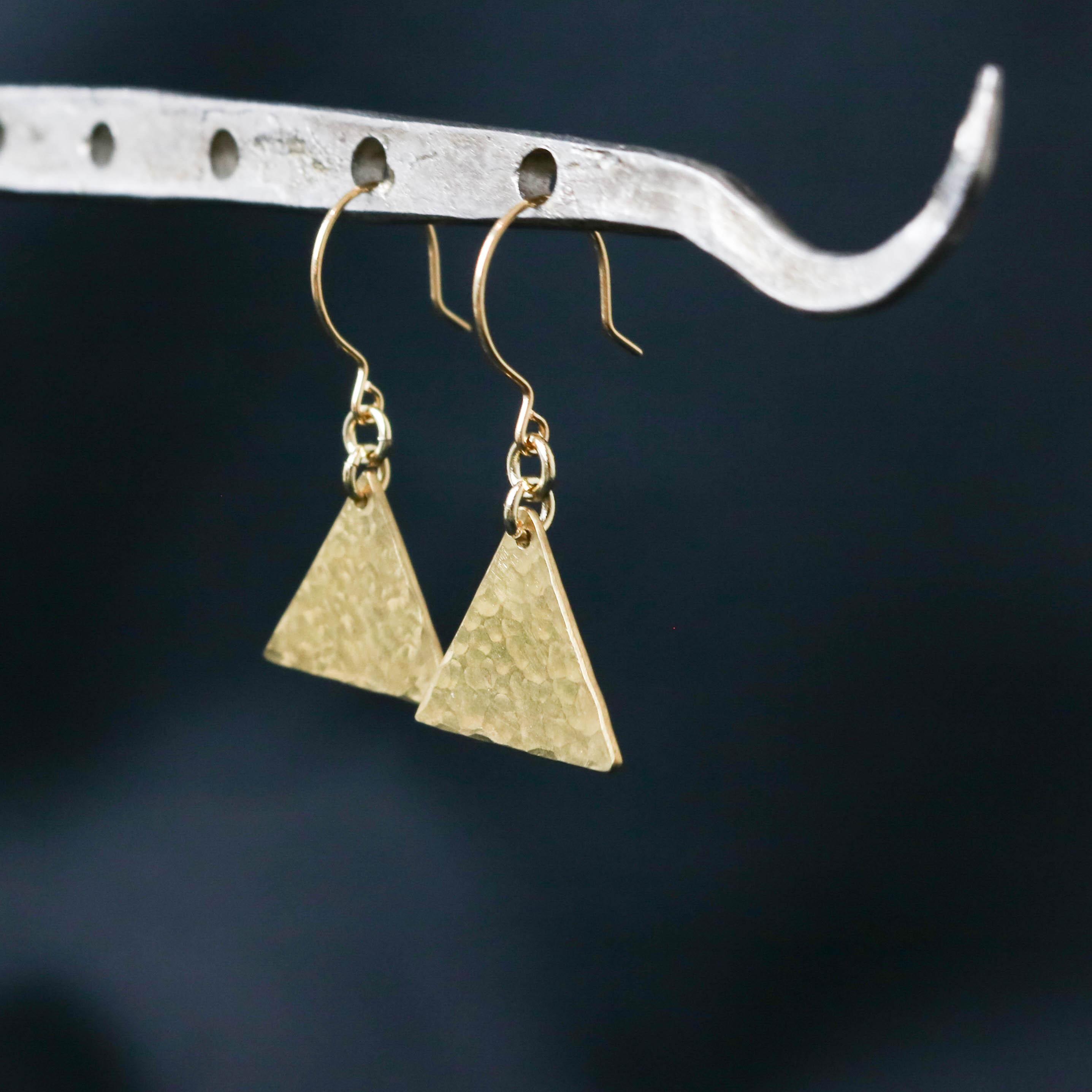 三角 真鍮ピアス 【P0179】