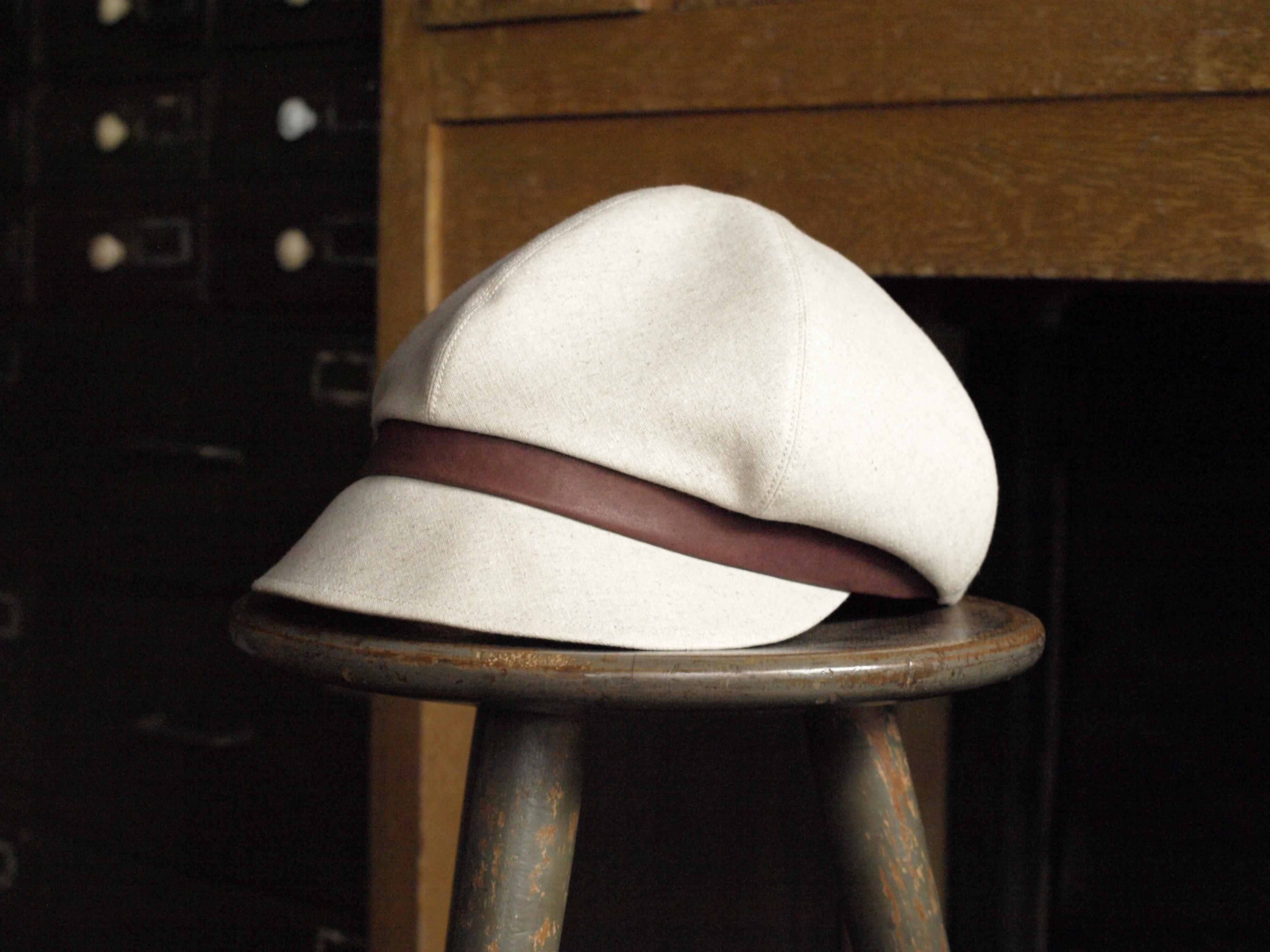 帽子(リネン:キナリ)