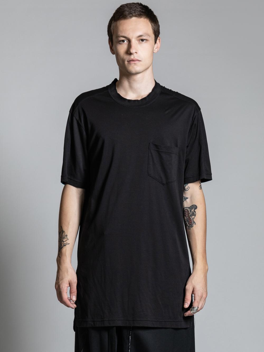 VI-2977-01 / 綿スムース ロング丈 半袖Tシャツ