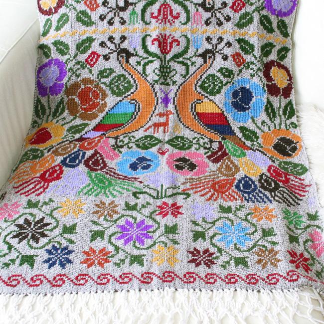 刺繍ブランケットショール /105/ MEXICO メキシコ