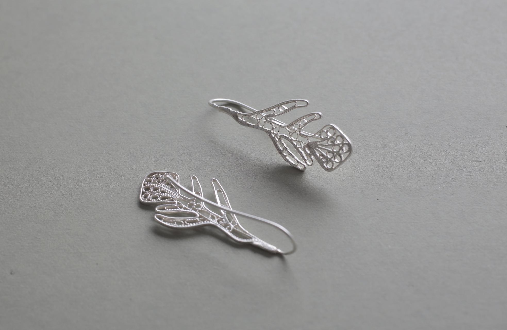 Nazuna(薺) - Earrings / Silver