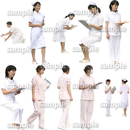 医療人物SketchUp素材10個 4p_set044 - 画像2
