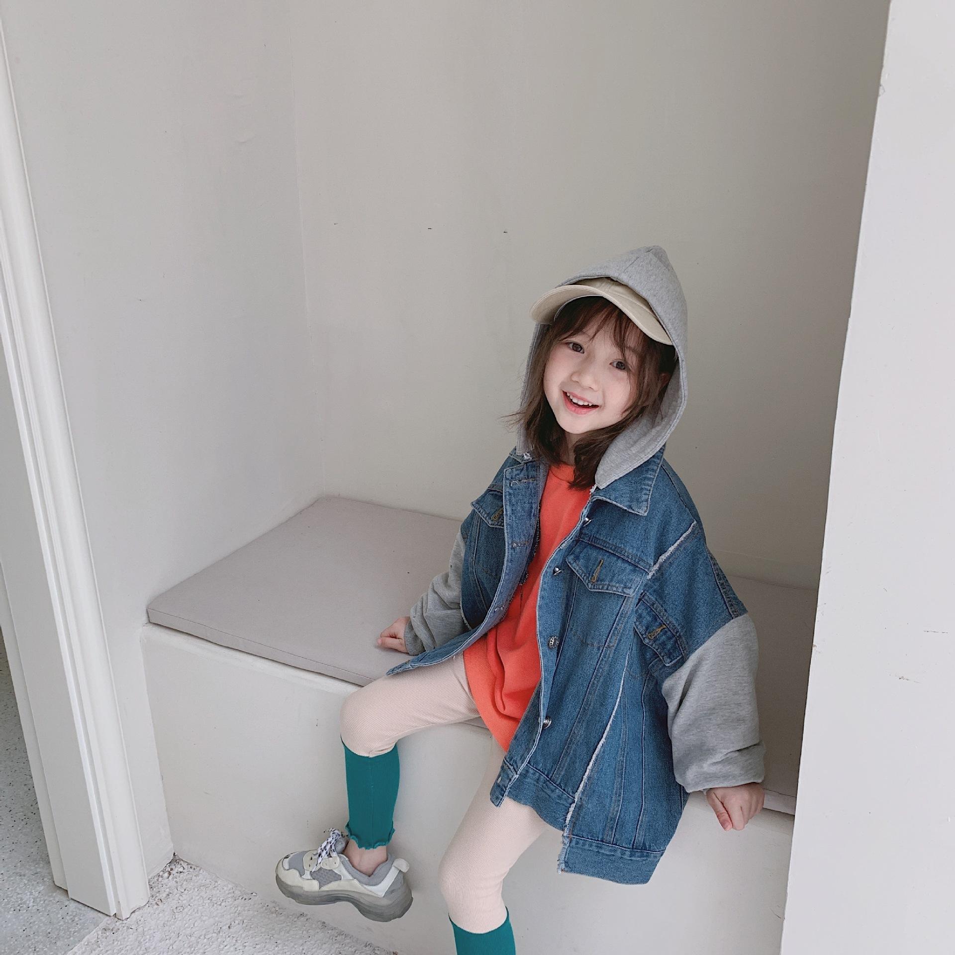 フード付デニムスウィッチジャケット【O034】