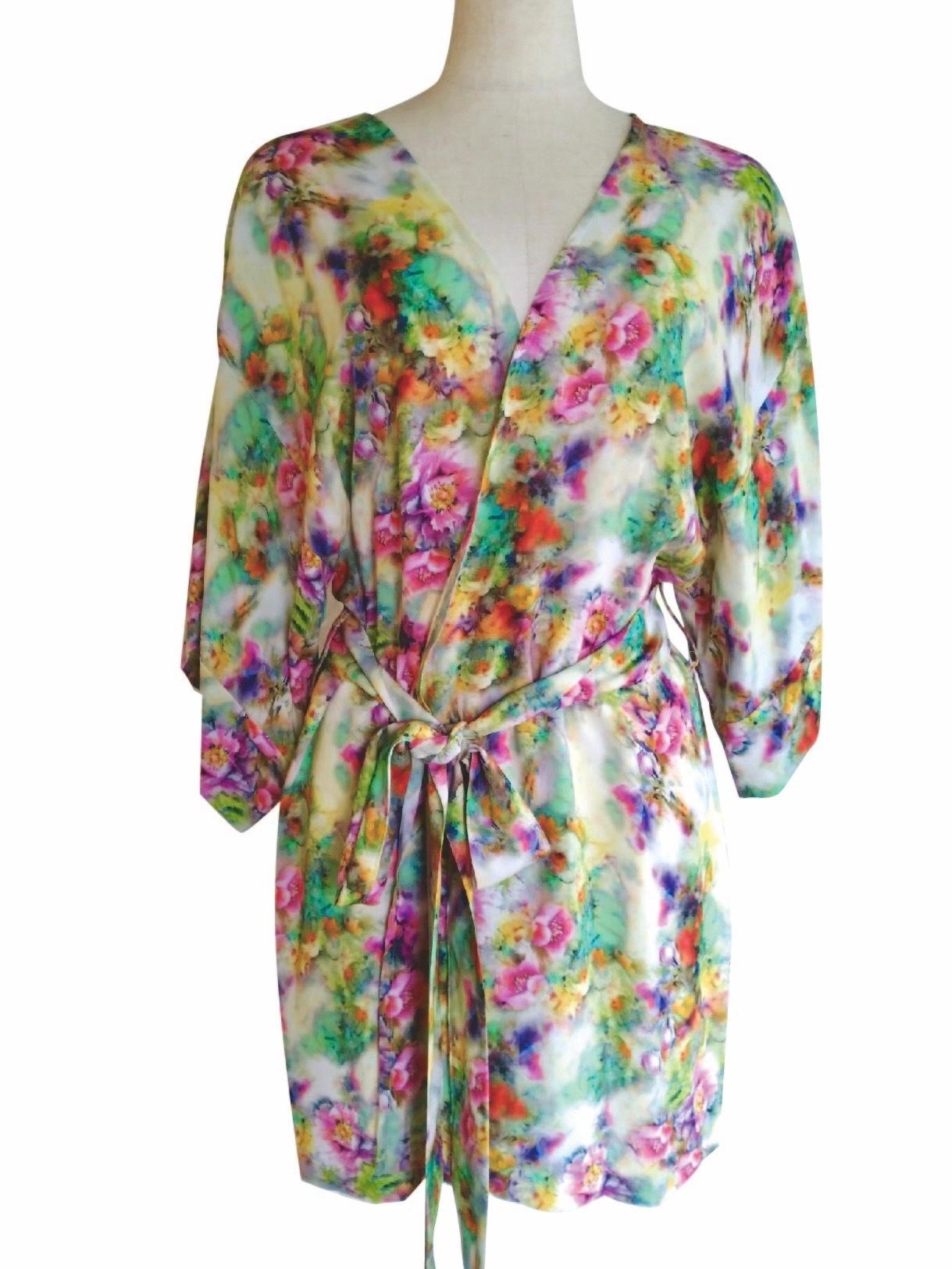 Kimono Robe Midium length Love from Sicilly ローブミディアム丈 シチリアから愛を込めて