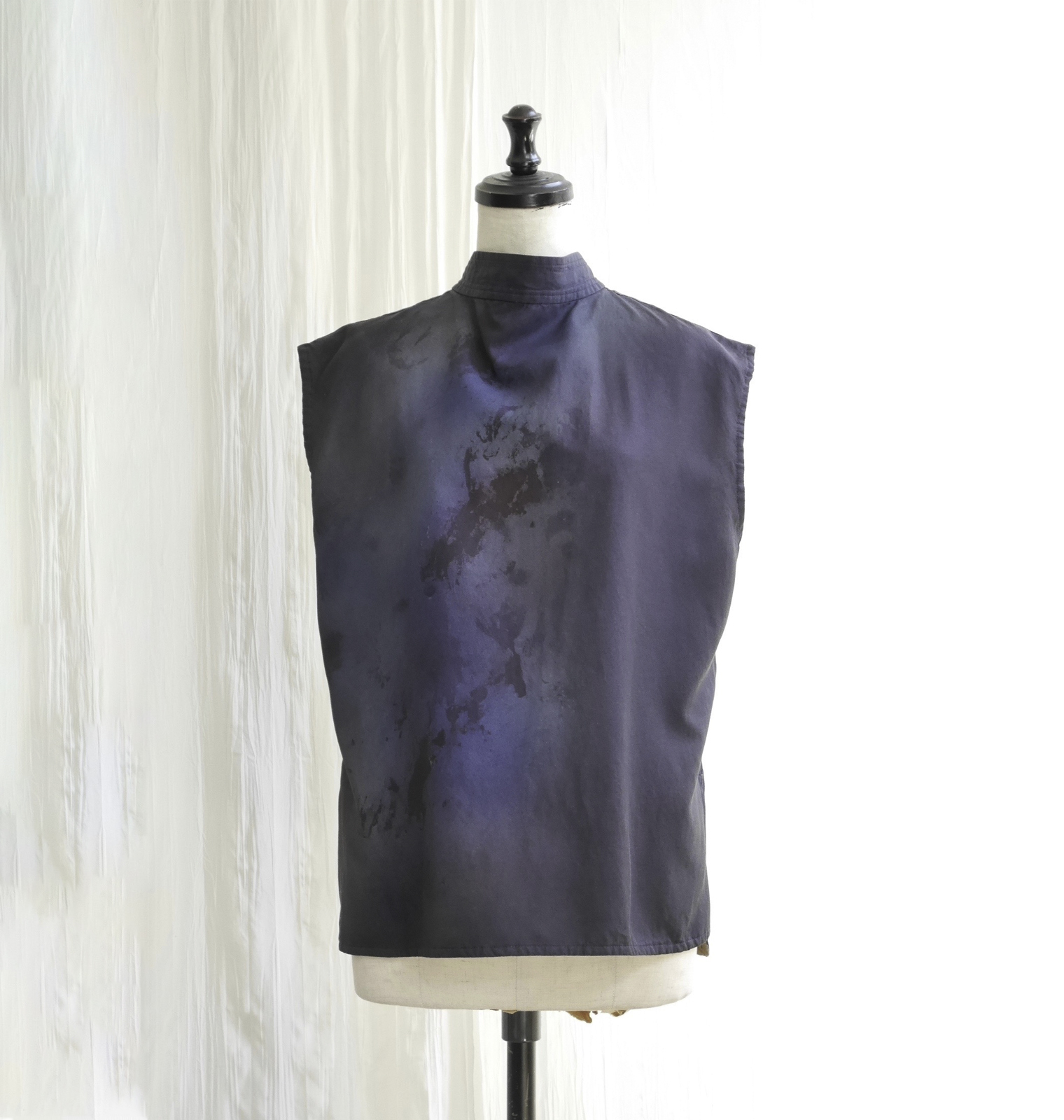 CAMOFLAGE PAINT TWILL BLOUSE  /   PURPLE BLUE