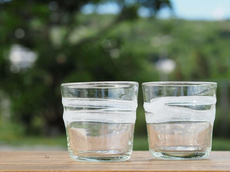 走川(はいかー)ロックグラス 再生ガラス工房てとてと 松本栄 琉球ガラス