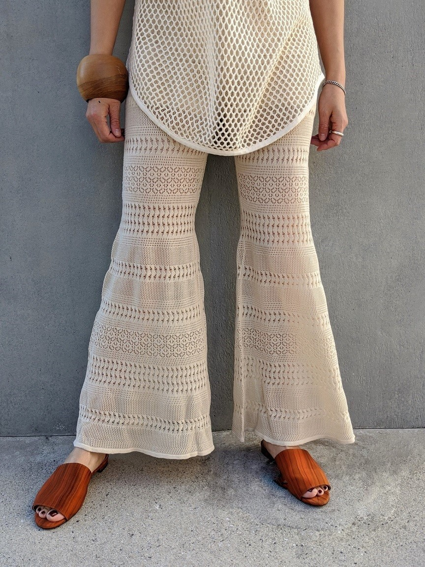 Lace Bell Bottoms - IVORY