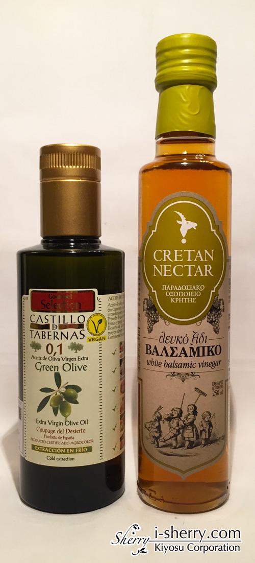 【送料込み】酸度0.1 オリーブオイル カスティージョ・デ・タベルナス0.1 グリーンオリーブ 250ml & 白バルサミコ酢 CRETAN NECTAR 250ml ありがとうキャンペーンセット